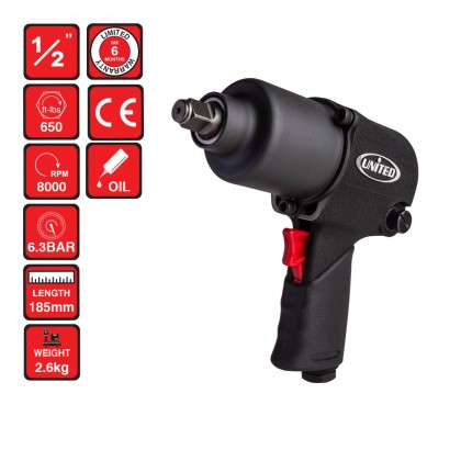 "UT-331      1/2"" AIR IMPACT WRENCH (650FT/LBS)"