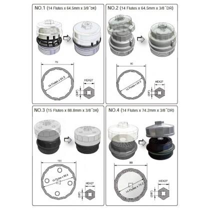 UNT-12609PCS OIL FILTER WRENCH SET