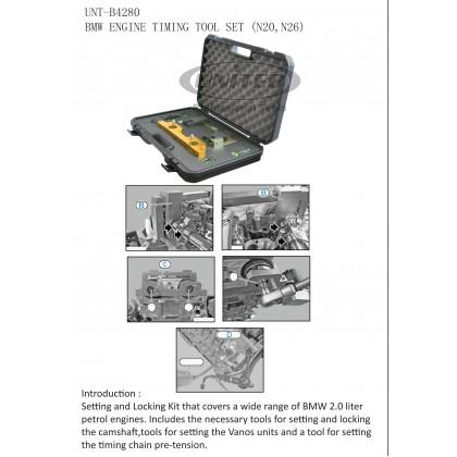 UNT-B4280BMW ENGINE TIMING TOOL SET (N20, N26)