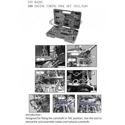 UNT-B4281BMW ENGINE TIMING TOOL SET (N13, N18)