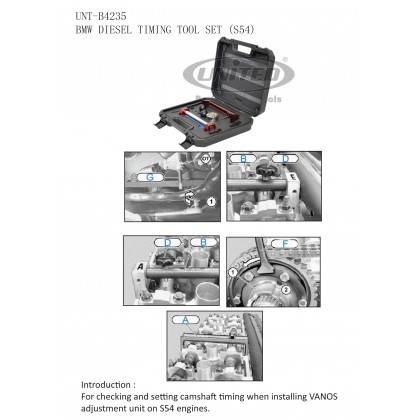 UNT-B4235BMW ENGINE TIMING TOOL SET (S54)