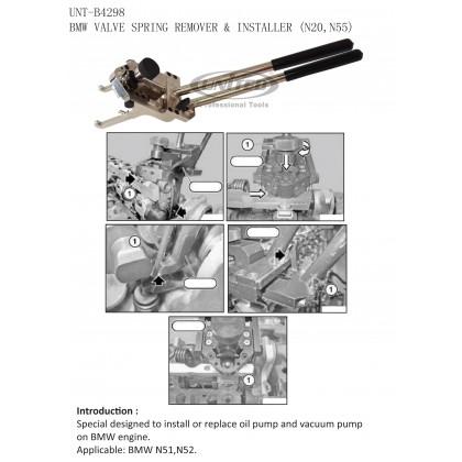 UNT-B4298BMW VALVE SPRING INSTALLER & REMOVER (N13, N20, N26, N55)