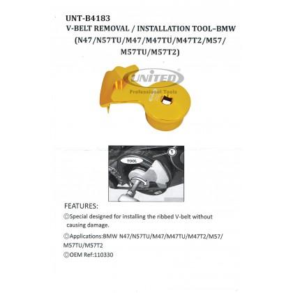 UNT-B4183BMW V-BELT INSTALLATION TOOL (M47, N47)