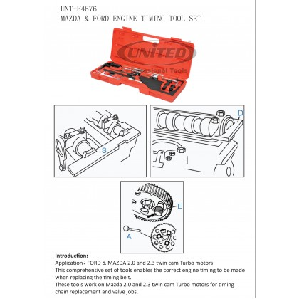 UNT-F4676 FORD & MAZDA ENGINE TIMING TOOL SET