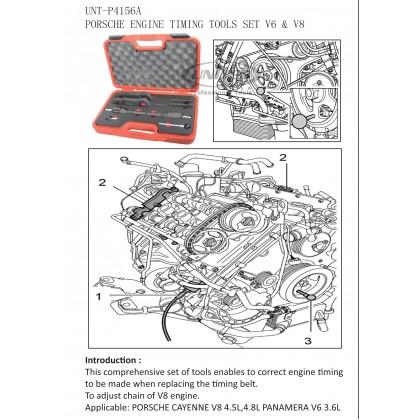 UNT-P4156APORSCHE ENGINE TIMING TOOL SET (V6 & V8)