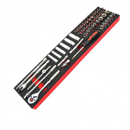 UNTB-5122 METAL BOX WITH 6 EVA TOOLS (122PCS)